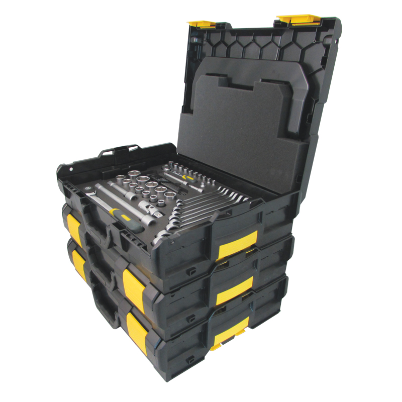 BOXES are made of ABS plastic, ergonomic, stackable, solid, waterproof, and mobile.
